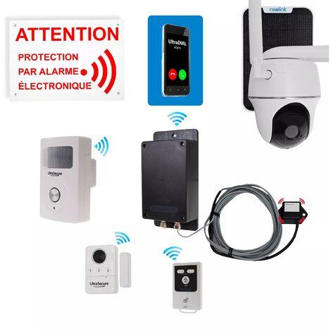 Kit 4 anti-squat GSM & caméra 4G solaire rotative - Détection complète + alerte téléphone 100% autonome (gamme BT)