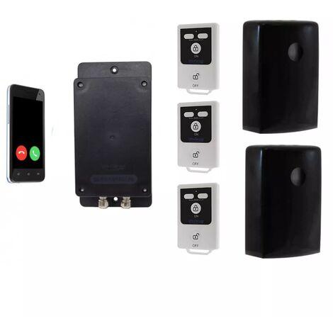 Kit 4 extérieur 100% autonome renforcé 2 détections mouvement + sirènes intégrées + alerte GSM 3G Appel/SMS (gamme BT)