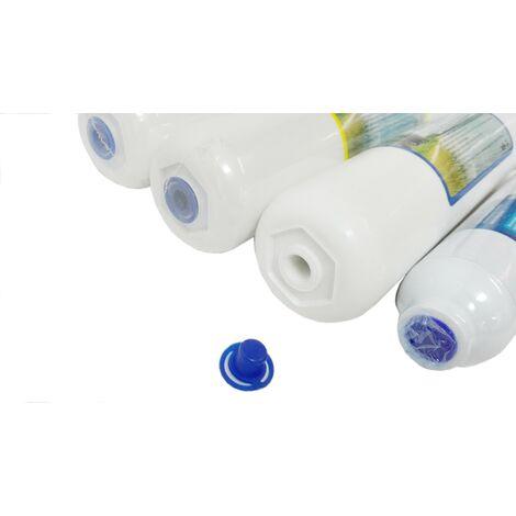 Kit 4 filtros ósmosis inversa compatible HIDROSALUD HIDROBOX