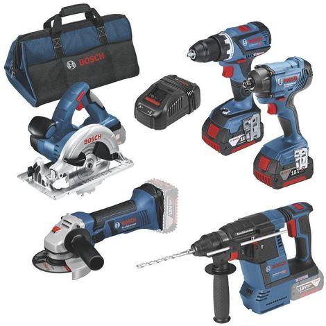 Kit 5 outils gsr18v-60c gdr