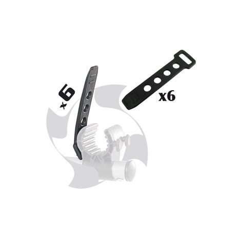Kit 6 attaches pour support porte vélos grv GREENVALLE 160651