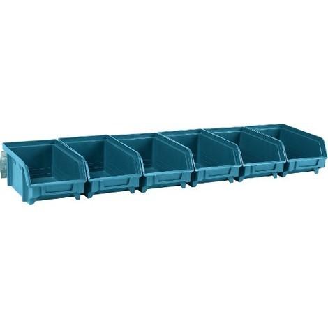 Sichtbox bleu taille 2 L 215x102x75 mm