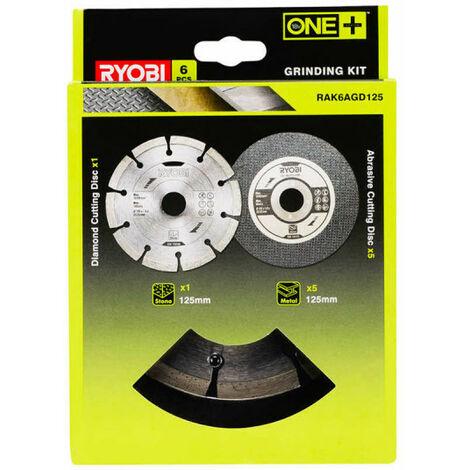 "main image of ""Kit 6 disques pour meuleuse RYOBI diamètre 125mm RAK6AGD125"""