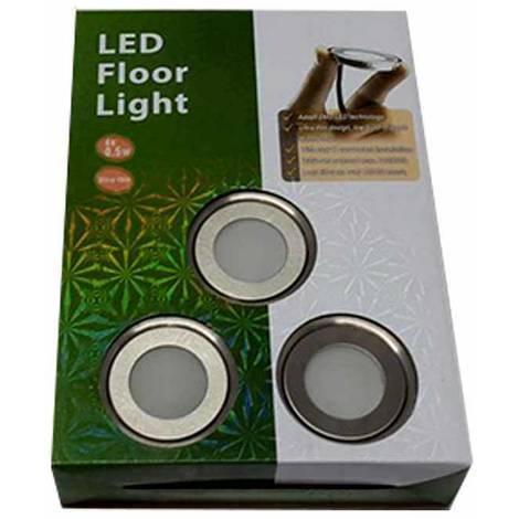 Kit 6 focos LED RGB empotrables en suelo Ø58x9mm 0,6W 12V-DC IP67 | RGB