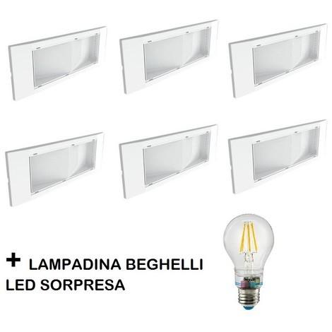 Catalogo Beghelli Lampade Di Emergenza.Kit 6 Lampade Emergenza Beghelli 1499 Led Omaggio Lampadina