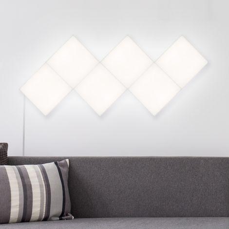 Kit 6 Paneles LED Cuadrado 30x30cm 57.5W 4800lm Blanco Neutro 4000K - 4500K