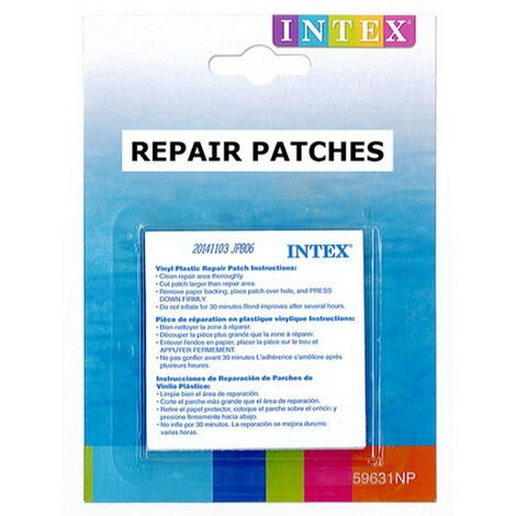 Kit 6 patchs r paration intex wetset matelas et piscine - Kit reparation liner piscine intex ...