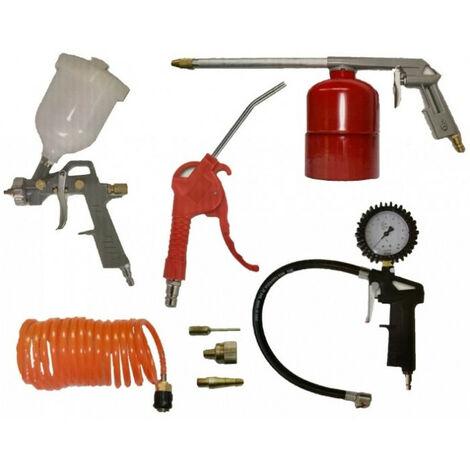 Kit 8 accessoires raccords rapides pour peindre, gonfler, souffler, pulvériser, 5015 PRODIF