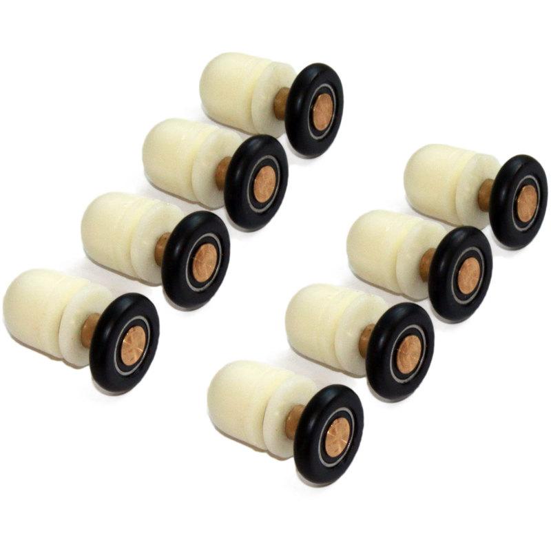 kit de roulette porte coulissante Kit 8 pièces roulettes remplacement douche pour verre porte coulissante  Roger
