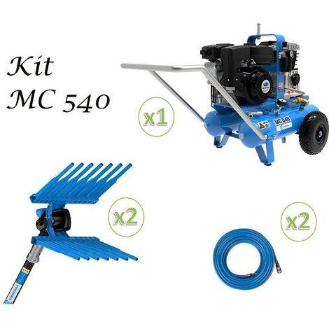 Kit Abbacchiatore-Scuotiture Olive Aria Compressa MC 540 + 2 Abbacc Tuono EVO + 2 Tubi- Campagnola
