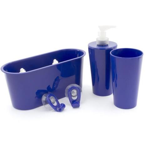Kit accessoire de salle de bain Marin : 2 crochets + 1 panier + 1 ...