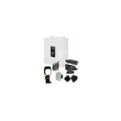 Kit Accessoires VMC Double Flux - PLI 50 T5/4S UNELVENT - 600070 Kit accessoires pour réseau Pluggit logement jusqu'á T5 et 4 sanitaires. Montage par plenum de répartition. Bouches d'extration et de soufflage extra-plate design BDO 80mm et 125mm