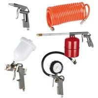 Kit accessori universale per compressori d'aria 5 pz