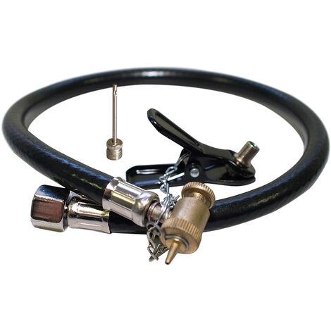 Kit adaptateur compresseur d'air comprimé Gonfleur de roues Valves auto vélo ballon