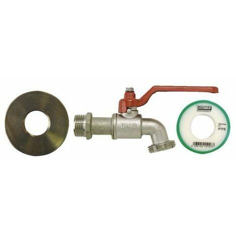 995af2b8218fa Kit adaptateur cuve 100l   robinet 1-4 tour + adaptateur + rl teflon