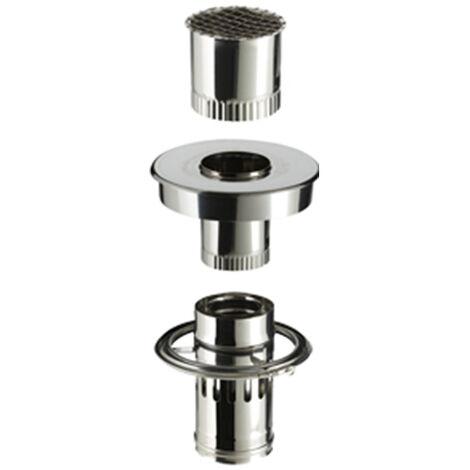 Kit adapté aux maisons individuelles équipées d'une sortie de toit avec conduit inox/galva diamètre 230mm.