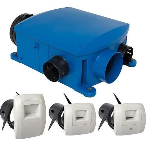 Kit aération centrale avec commande humidité Bahia Compact T3 + Hygro B