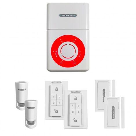 Kit alarme 3G avancé sirène à pile GSM autonome extérieure 100% sans-fil + 6 accessoires (ULTRALARM 3G)