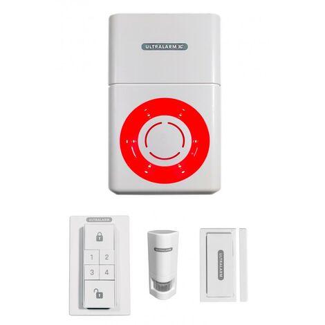 Kit alarme 3G sirène à pile GSM autonome extérieure 100% sans-fil (ULTRALARM 3G)