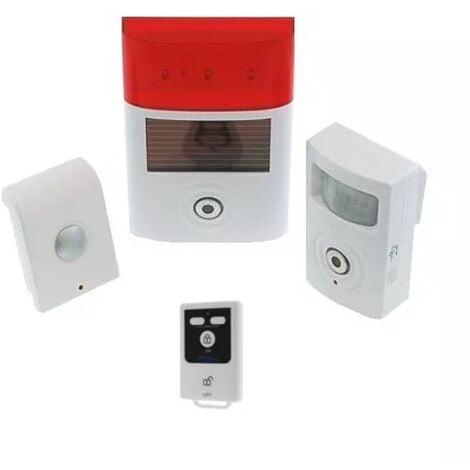 Kit alarme autonome triple sirène + détecteur sans-fil + télécommande (gamme BT)