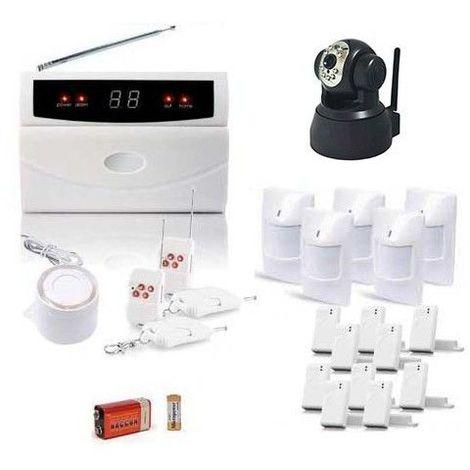 Kit alarme de maison, 32 zones xxl box et camera ip et caméra