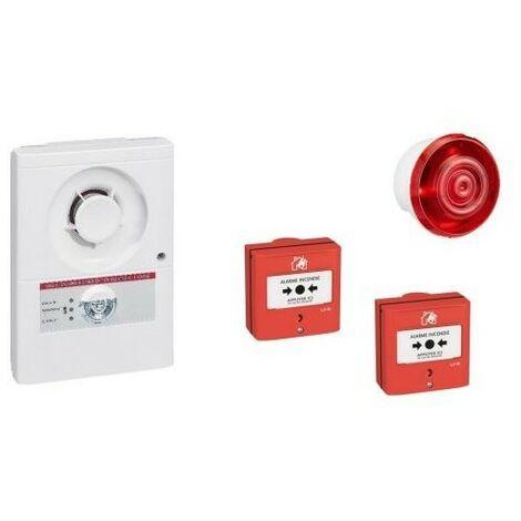 Kit alarme incendie - Type 4 - sur Secteur - Avec flash