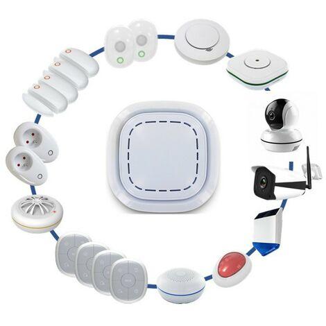 Kit Alarme Maison Sans Fil Connecté 3 En 1 - Sirène, Caméra Ext Et Domestique Lifebox Smart