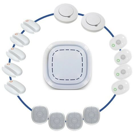 Kit Alarme Maison Sans Fil Connectee 3 En 1 - Securite Domestique Daaf - Lifebox Smart