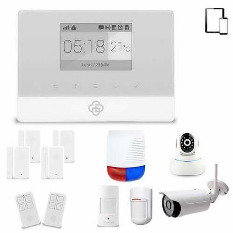 kit alarme maison sans fil gsm appure appurex4ip. Black Bedroom Furniture Sets. Home Design Ideas