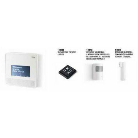 Kit alarme MYNICE 7001 TOUCH sans fil et filaire MNCUTC - NICE MNKITW7001TC