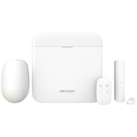 Kit alarme sans fil Wifi/GPRS avec centrale 64 zones - DS-PWA64-KIT-WE Hikvision - Blanc