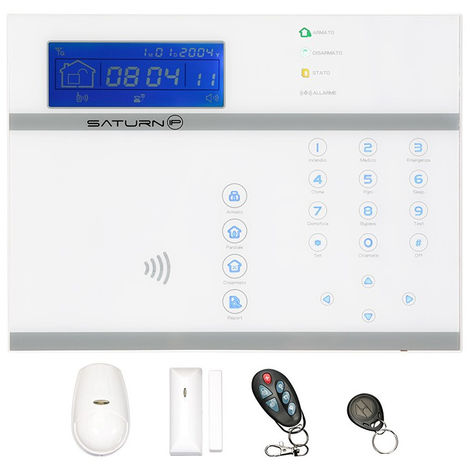 Kit allarme casa saturn ip wifi (senza cavo di rete), multi frequenza, internet + gsm