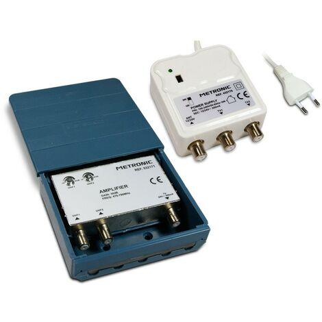 Kit amplificador acoplador de exterior- 2 entradas UHF