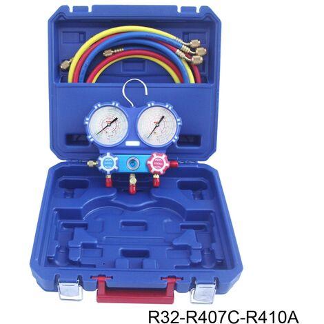 Kit analizador 2 valvulas analogico manometros diam. 80 R32/R407C/R410A