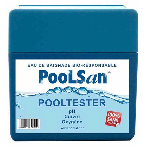 Kit analyse eau piscine Pooltester 3 en 1 Poolsan