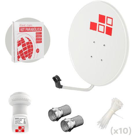 Kit Antena Parabólica 60cm + LNB