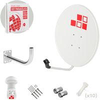 Kit Antena Parabólica 60cm + LNB + Soporte