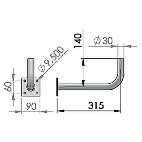 Kit Antena Parabólica 60cm + LNB + Soporte Pared Tecatel K60C1LS