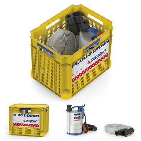 Kit anti inondation Pedrollo PLUG&DRAIN - Pompe a eau 0,37 kW jusqu'à 9,6 m3/h monophasé 220V
