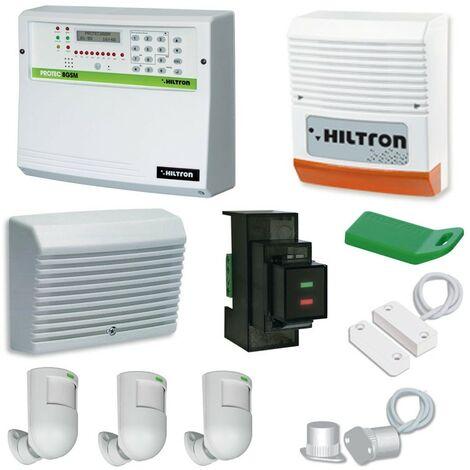 Kit anti-Robo Hiltron Protec 8 Zonas GSM sirena de los detectores, los lectores y las teclas