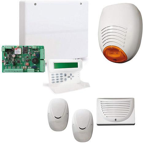 KIT ANTIFURTO ALLARME FILARE CASA AMC 501 C24 GSM PLUS 8 ZONE
