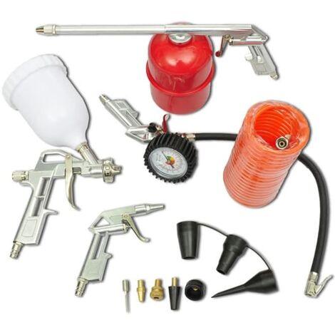 Kit aria compressa pistola a spruzzo e accessori 11 pz