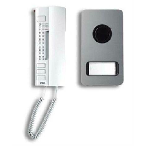 Kit audio familial 2 fils avec interphone utopia et commande manuelle mikra 1122/31