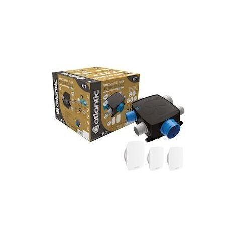 Kit AUTOCOSY IH FLEX VMC autoréglable INTELLIGENTE PLAT 4 SANITAIRES - Kit AUTOCOSY IH FLEX VMC autoréglable INTELLIGENTE PLAT 4 SANITAIRES