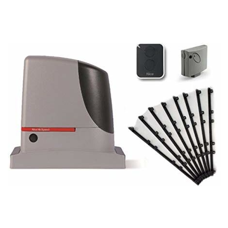 Kit Automation Nice Run 400 Hs For Sliding Gates (Run400Hs Smxi On2E ) 400 Kg 8 M Nylon Rack