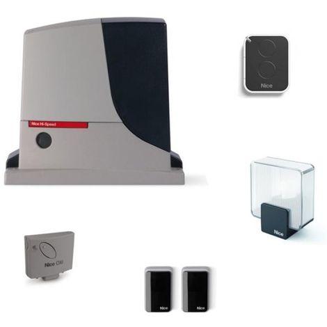 Kit automatisme de portail NICE ROBUS 500 HI-SPEED - Pour portail coulissant 500 kg max
