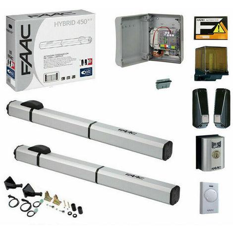 Motori Per Cancelli A Due Ante Faac.Kit Automazione Per Cancelli A Battente 24v Hybrid Kit Faac 105683 Automatismi