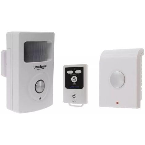 Kit autonome sans-fil : Détecteur de mouvement avec sirène intégrée + sirène intérieure + télécommande (gamme BT)