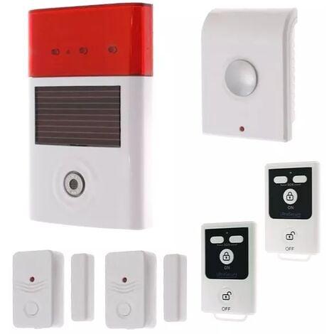 Kit autonome sans-fil double détection d'ouverture et double alerte 130 dB + 2 télécommandes (gamme BT)