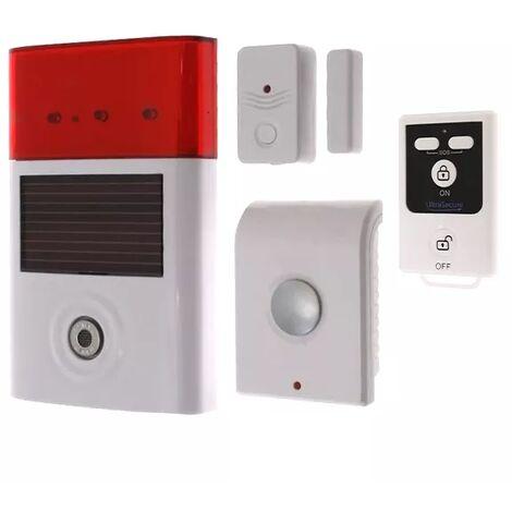 Kit autonome sans-fil double sirène + détecteur d'ouverture porte et fenêtre + télécommande (gamme BT)
